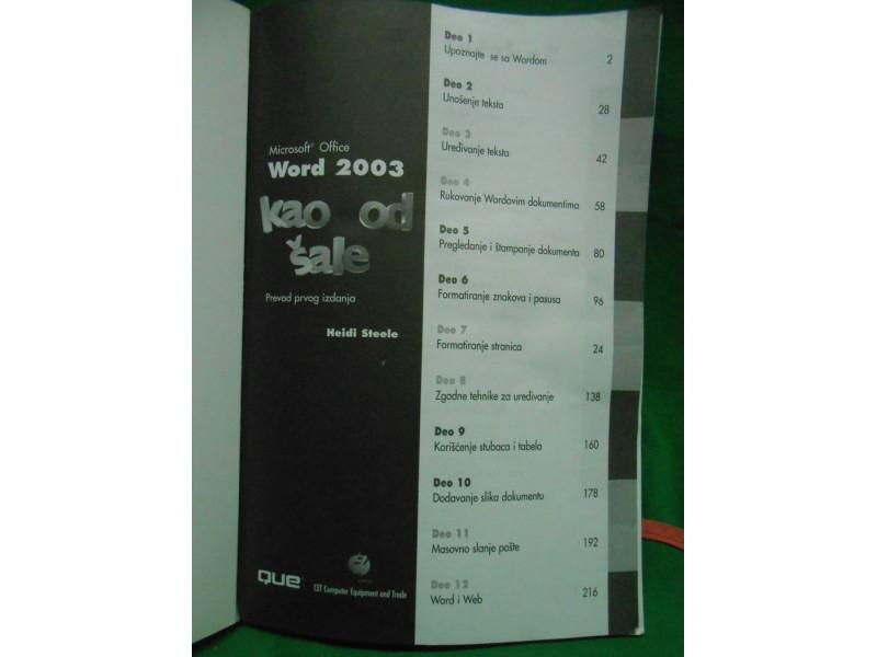 WORD 2003  KAO OD ŠALE  Heidi Steele