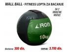 Wall Ball - Fitnes lopta za bacanje 10kg sa 2 ručice