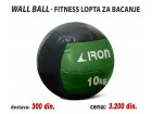 Wall Ball - Fitnes lopta za bacanje 10kg