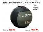 Wall Ball - Fitnes lopta za bacanje 12kg sa 2 ručice