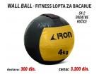 Wall Ball - Fitnes lopta za bacanje 4kg sa 2 ručice