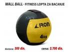 Wall Ball - Fitnes lopta za bacanje 4kg