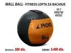 Wall Ball - Fitnes lopta za bacanje 6kg sa 2 ručice