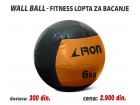 Wall Ball - Fitnes lopta za bacanje 6kg