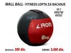 Wall Ball - Fitnes lopta za bacanje 8kg sa 2 ručice
