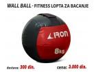 Wall Ball - Fitnes lopta za bacanje 8kg