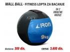 Wall Ball - Fitnes lopta za bacanje 9kg sa 2 ručice