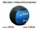 Wall Ball - Fitnes lopta za bacanje 9kg