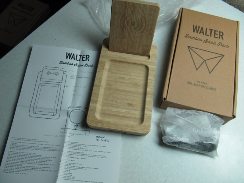 Walter Bamboo Small Dock Wireless charger