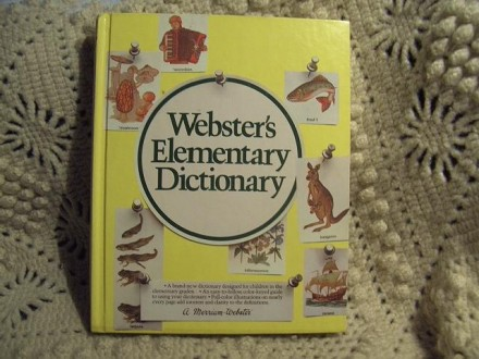 Webster Elementary dictionary, na engleskom, kao nov
