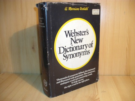Webster`s New Dictionary of Synonyms
