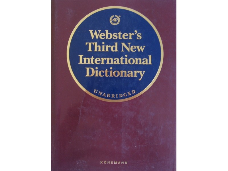 Websters Third New International dictionary