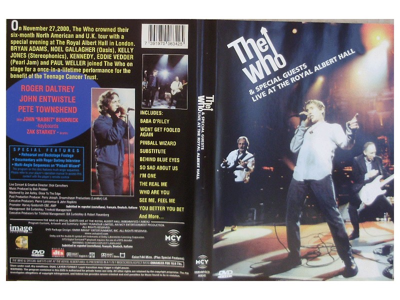 Who - LIVE AT THE ROYAL ALBERT HALL - DVD