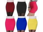 Womens Elastic Pleated Short Skirt