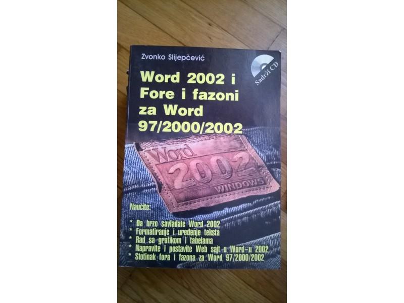 Word 2002, fore i fazoni za Word 97/2000/2002