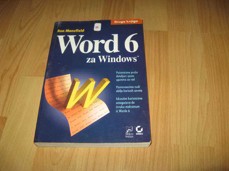Word 6 za Windows II