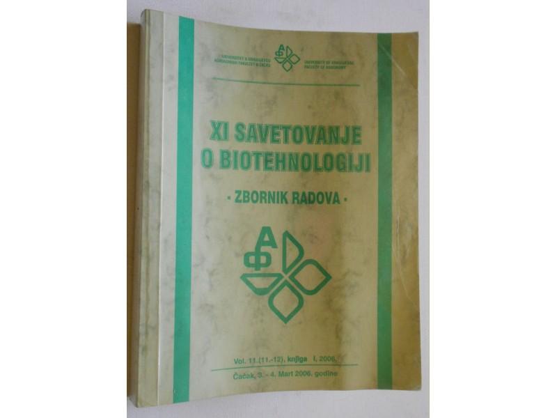 XI savetovanje o biotehnologiji - Zbornik radova