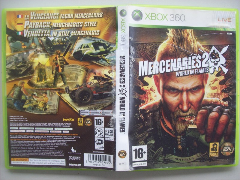 Xbox 360 Mercenaries 2 - World in Flames  igrica