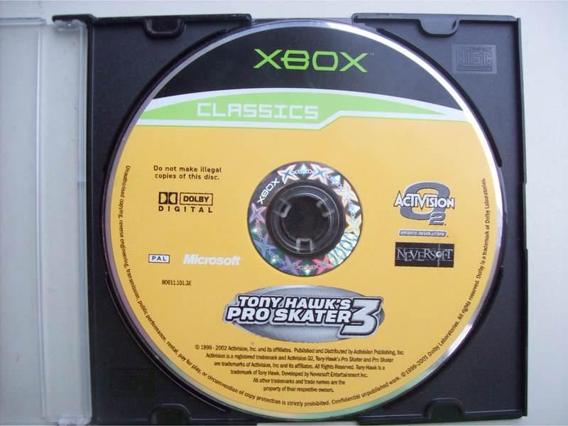 Xbox Tony Hawks Pro skater 3