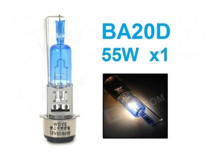 Xenon BA20D sijalica - PLAVA - 55W 1 kom