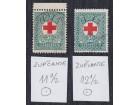 Yu 1933 Crveni Krst, Porto zupčanje 11½ i 12½ poništeno