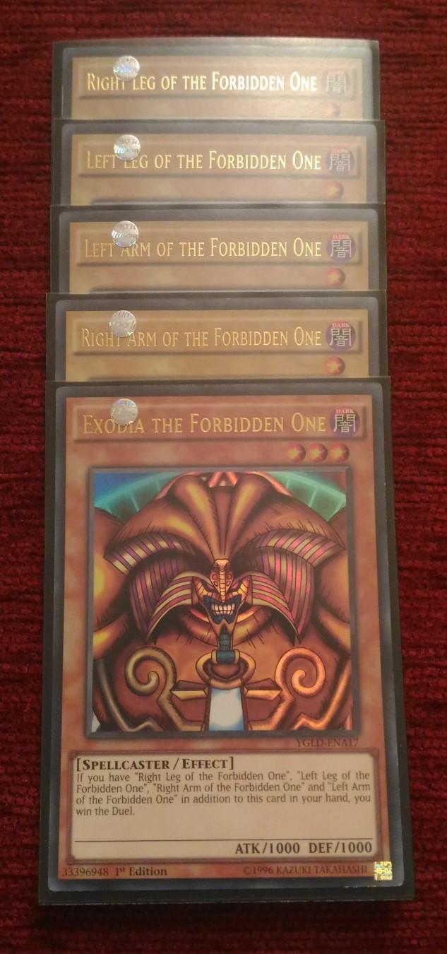 yu gi oh original karte exodia the forbidden one kupindo com