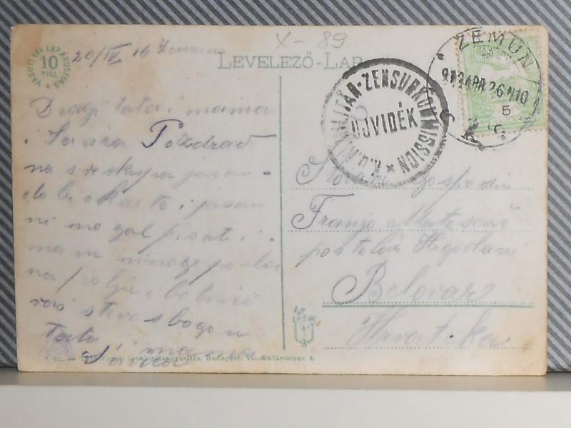 Z E M U N - PANORAMA -1910/20-K.U.K.-CENZURA.(X-89)