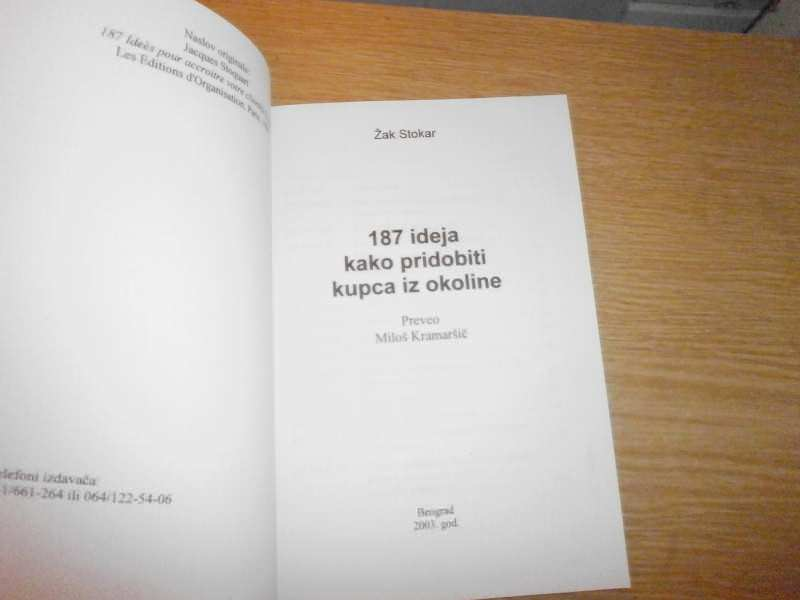 ZAK STOKAR    187 IDEJA KAKO PRIDOBTI KUPCA IZ OKOLINE