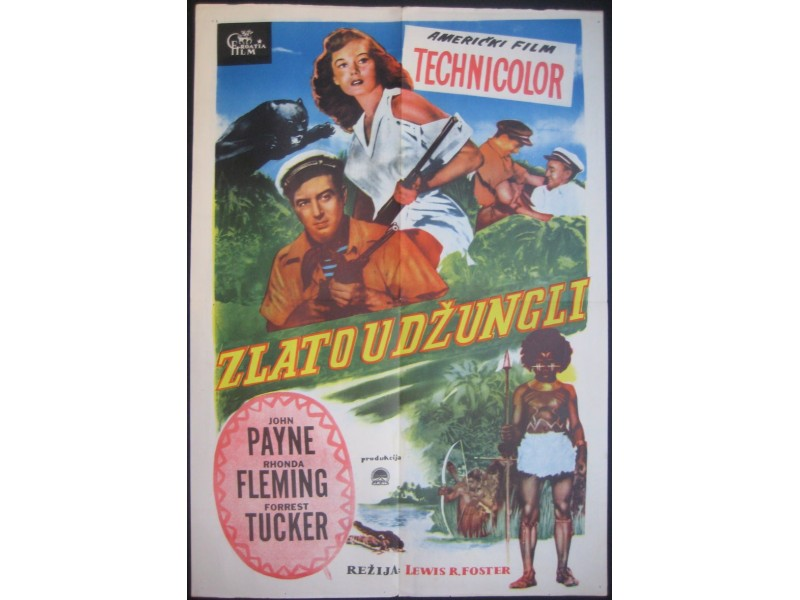 ZLATO U DZUNGLI filmski plakat