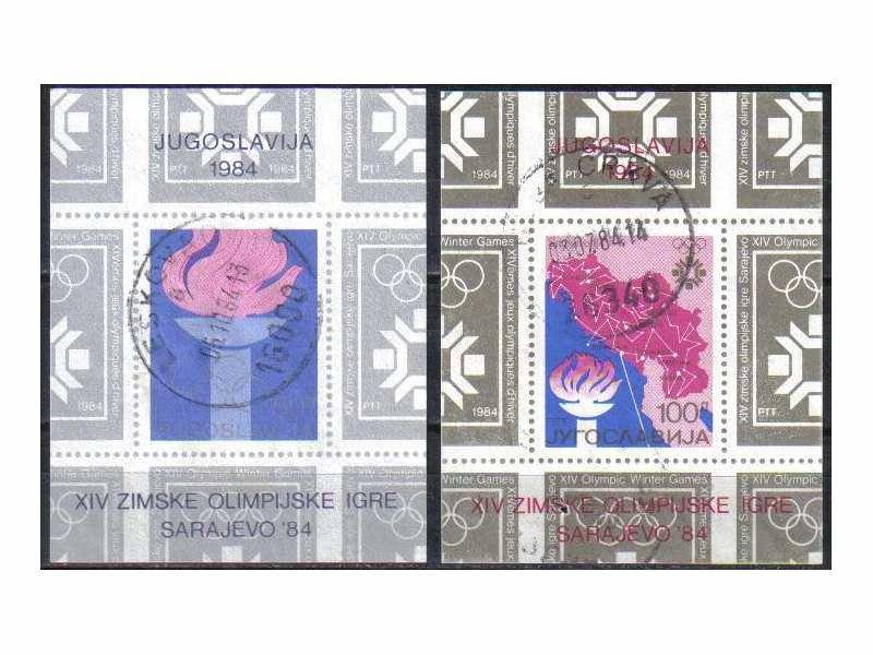 ZOI SARAJEVO 1984-BLOK 24 i 25-ZIGOSANO