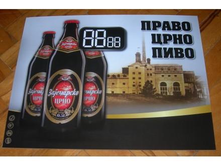 Zaječarsko crno pivo, kartonska reklama
