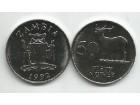 Zambia Zambija 50 ngwee 1992.