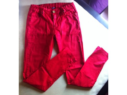 Zara skinny crvene pantalone