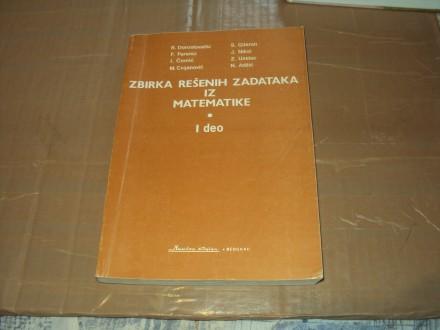 Zbirka resenih zadataka iz matematike,prvi deo,grupa au