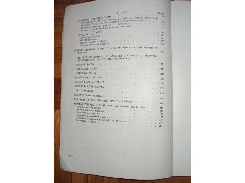 Zbirka resenih zadataka iz matematike za ekonomiste