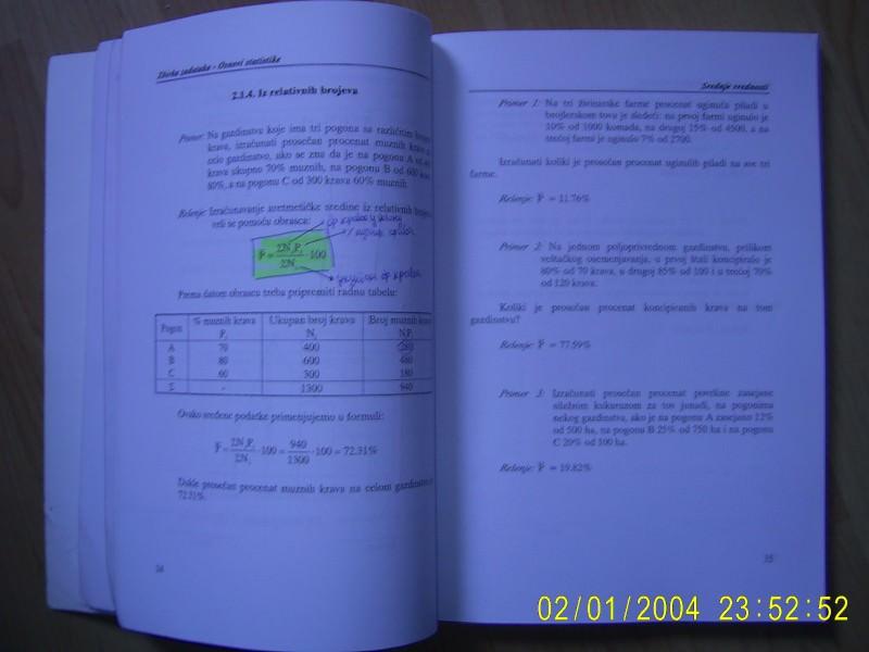 Zbirka zadataka iz biostatistike