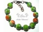 Zelena Narukvica Staklene Perle