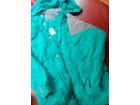Zelena perjana jakna NOVA