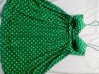 Zelena tufnasta haljinica