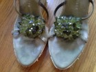 Zelene sandale sa kristalima