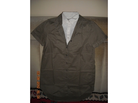 Ženska košulja-tunika sa duplom kragnom  - akcija - 50%