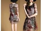 Ženska letnja haljina štampani dizajn