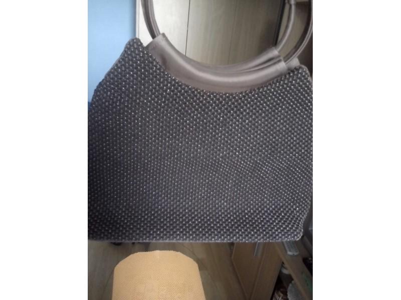 Zenska torba braone boje-dve nijanse braon