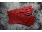 Zenske kozne rukavice crvene NOVO
