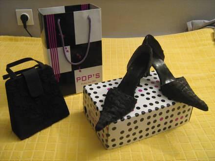 Ženske sandale POP`S + torbica