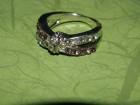 Ženski srebrni prsten sa cirkonima, 17 mm