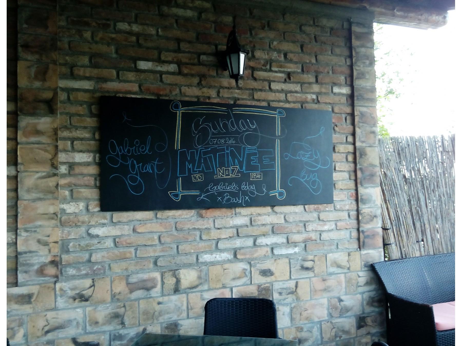 Zidna tabla za crtanje i pisanje kredom 120cm x 60cm for Table za crtanje