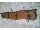 Zidni čiviluk Hrastovo drvo-mesing