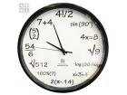 Zidni sat - MATEMATIČKI SAT crni ili beli