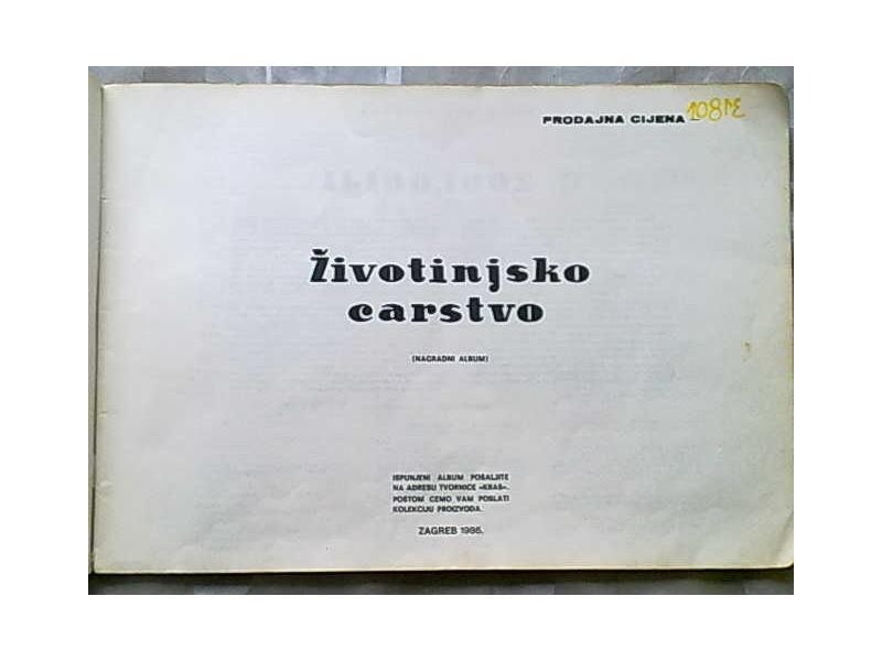 Zivotinjsko carstvo,album sa 250 slicica